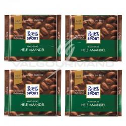 Lot de 4 tablettes Ritter Sport amandes entières 100g
