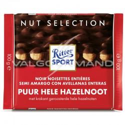 Ritter Sport noir noisettes 100g - boîte de 10