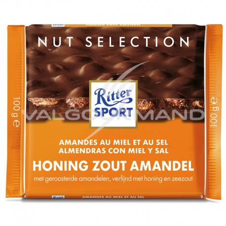 Ritter Sport amandes au miel 100g - boîte de 11
