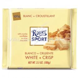 Ritter Sport blanc + croustillant 100g - boîte de 10