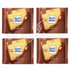 Lot de 4 tablettes Ritter Sport biscuit 100g