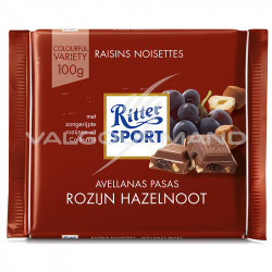 Ritter Sport raisins noisettes 100g - boîte de 12