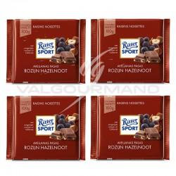 Lot de 4 tablettes Ritter Sport raisin noisettes 100g