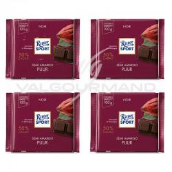 Lot de 4 tablettes Ritter Sport noir 50% 100g