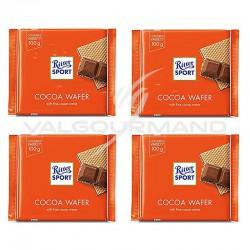 Lot de 4 tablettes Ritter Sport gaufrette de cacao 100g en stock