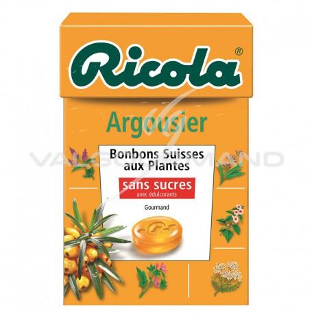 Ricola argousier SANS SUCRES 50g - 20 étuis
