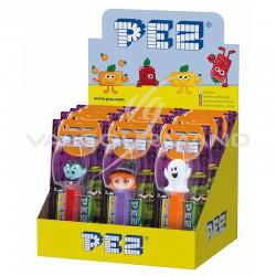 Pez figurines Halloween + 1 recharge - le lot de 12 en stock