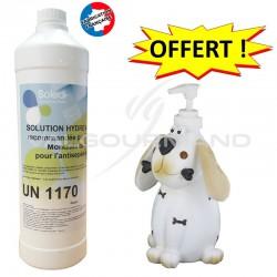 Solution hydro alcoolique bouteille recharge 1L + distributeur OFFERT