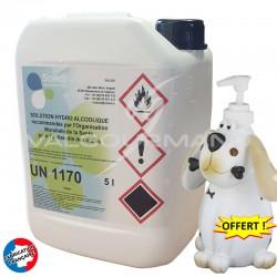 Solution hydro alcoolique bidon recharge 5L + distributeur OFFERT