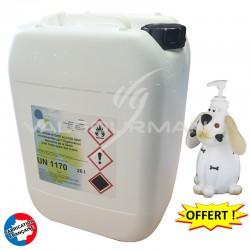 Solution hydro alcoolique bidon recharge 20L + distributeur OFFERT en stock