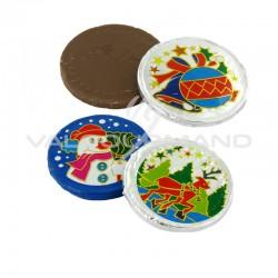 PRECOMMANDE - Médaillons de Noël en chocolat - carton de 5kg