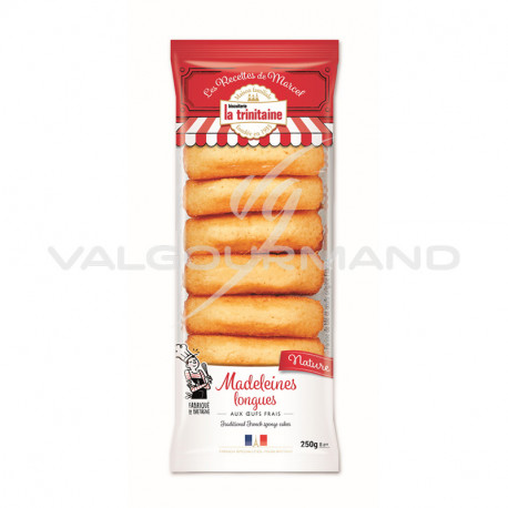Madeleines longues natures 250g - 6 paquets