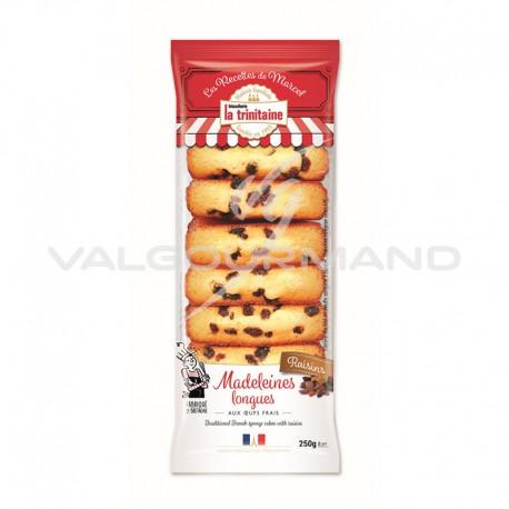 Madeleines longues raisins 250g - 6 paquets