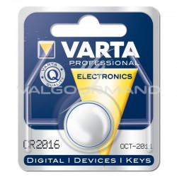 Piles boutons CR2016 Lithium 3V Varta - le lot de 10 (soit 1€ pièce !) en stock