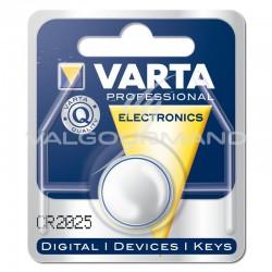 Piles boutons CR2025 Lithium 3V Varta - le lot de 10 (soit 0.95€ pièce !) en stock