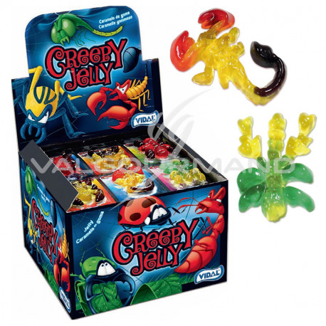 Creepy jelly Bestioles gélifiées - boîte de 66