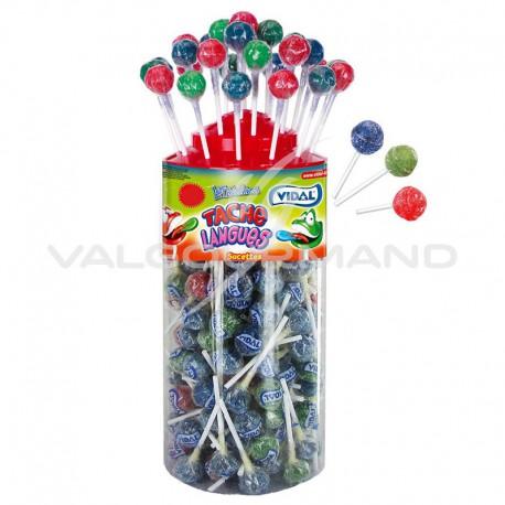 Sucettes acides (colorent la langue) - tubo de 150