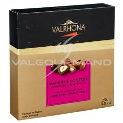 Equinoxe amandes/noisettes au chocolat noir et lait Valrhona - coffret de 250g