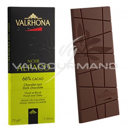 Chocolat Alpaco 66% Valrhona - tablette de 70g