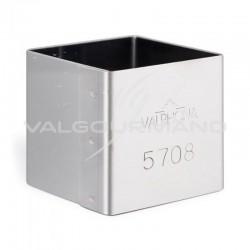 Cube en inox 5cm VALRHONA
