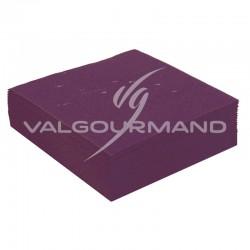 Serviettes de table unies PRUNE - 50 pièces