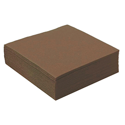 Serviettes de table unies MARRON - 50 pièces