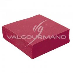 Serviettes de table unies BORDEAUX - 50 pièces en stock