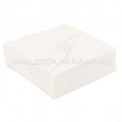 Serviettes de table unies BLANC - 50 pièces