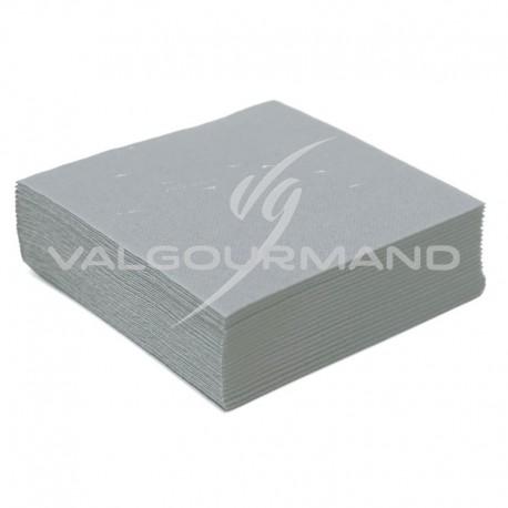 Serviettes de table unies GRIS - 50 pièces