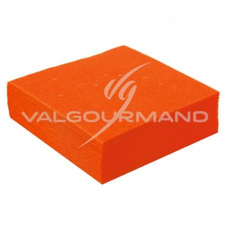 Serviettes de table unies MANDARINE - 50 pièces