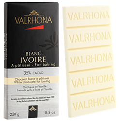 Chocolat Ivoire 35% Valrhona - mini bloc de 250g