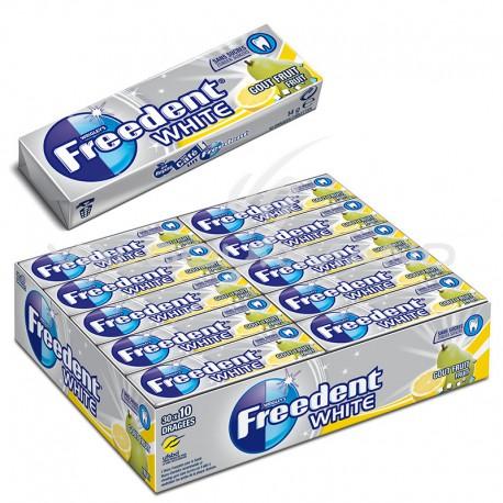 Freedent dragées white fruits SANS SUCRES - le lot de 30