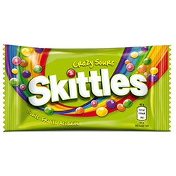 Skittles crazy sours 45g - boîte de 36