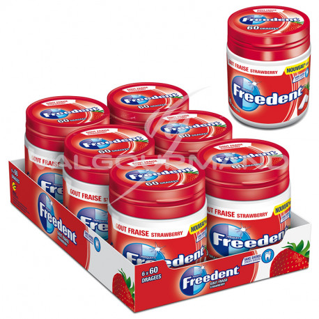 Freedent Box fraise SANS SUCRES 84g - 6 boîtes