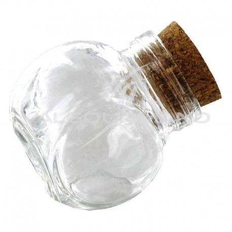 Mini bonbonnières avec bouchon en liège - 12 pièces