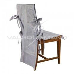 ~Housse de chaise Luxe en intissé GRIS - 10 pièces en stock
