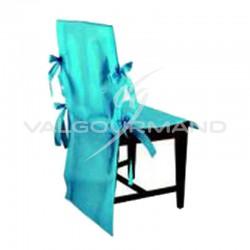 Housse de chaise Luxe en intissé TURQUOISE - 10 pièces en stock