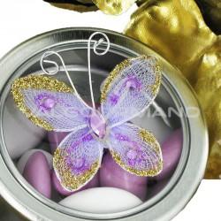 Papillon autocollant LILAS - 4 pièces (soit 0.49€ pièce !) en stock