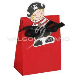 Ballotin rouge et vignette PIRATE - 10 pièces (soit 0.55€ pièce !) en stock