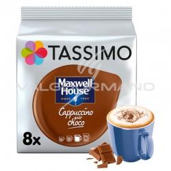 Tassimo Maxwell House Cappuccino choco 208g (8 dosettes) - les 5 paquets en stock