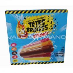 Sucettes à congeler têtes brûlées Ice Dynamite - boite de 20 bâtons en stock