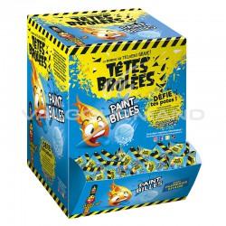 Têtes brûlées Paint billes FRAMBOISE (colorent la langue) - boîte de 300