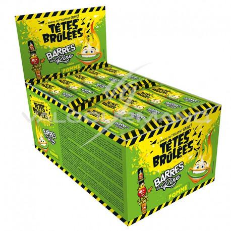 Têtes Brûlées barres de rire pomme - boîte de 150