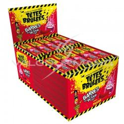 Têtes Brûlées barres de rire fraise - boîte de 150