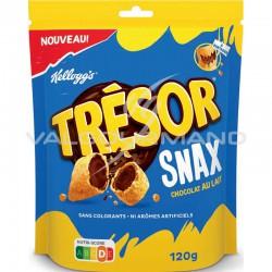 Kellogg's Trésor Snax chocolat lait 120g - carton de 8 sachets en stock