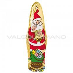 PRECOMMANDE - Pères Noël en chocolat au lait s/alu 40g/15cm Cémoi - carton de 96 en stock