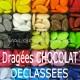 Dragées au chocolat Déclassées COULEUR - 1kg