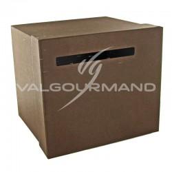 Urne / Tirelire unie CHOCOLAT - pièce en stock