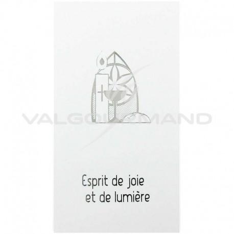 Cartes Image Bougie ARGENT - 10 pièces
