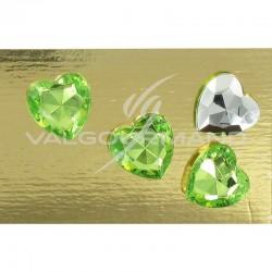 Diamant Coeur 1,50CM VERT - 24 pièces